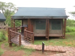 An example of a comfortable tented hut with a/c in the Kruger National Park