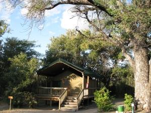 Safari tent accommodation example at Nata Lodge. Botswana. Photo Eelco Meyjes