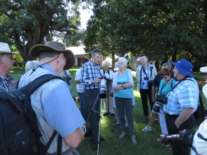 Albert Froneman, one of South Africa's foremost bird photographers, sharing his talents with interested delegates