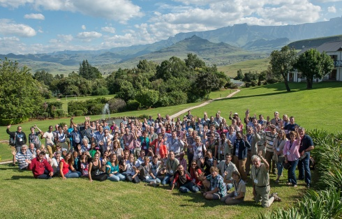 Delegates at the recent Learn About Birds convention held in the Drakensberg in South Africa. Photo Albert Froneman