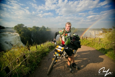 Eelco Meyjes at the Victoria Falls finish in Zimbabwe. Photo: Lesanne Dunlop